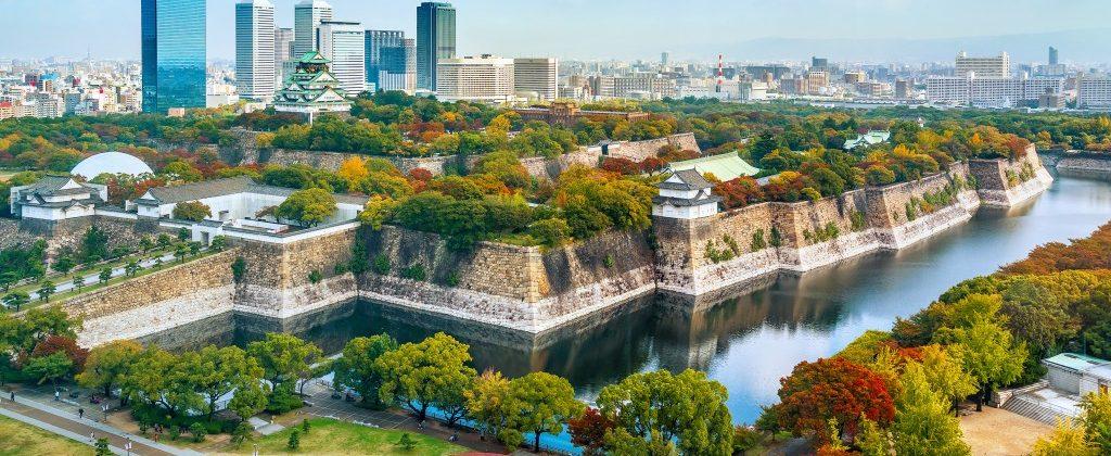 Osaka castle in Japan