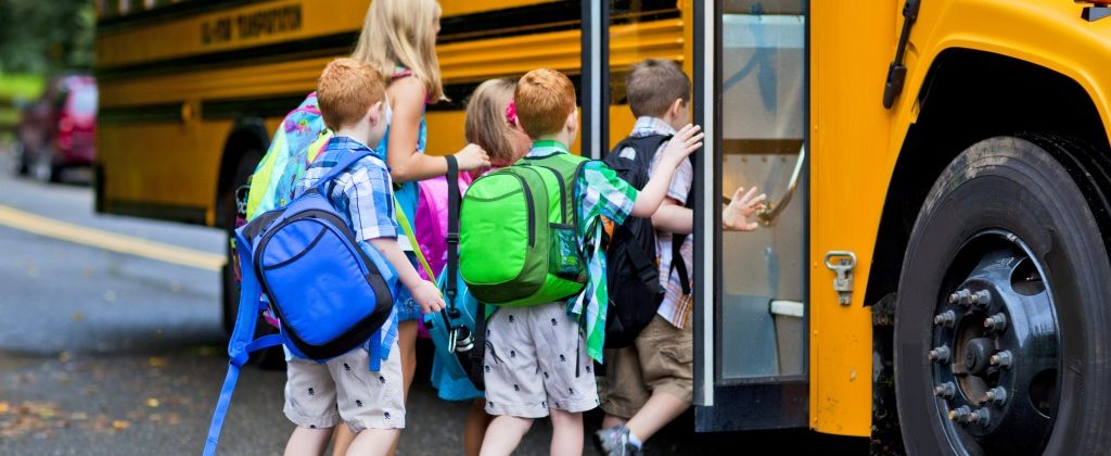 Kids going to a field trip