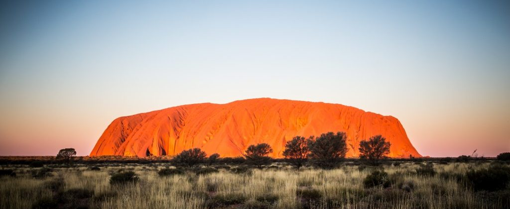 Majestic Uluru at sunset